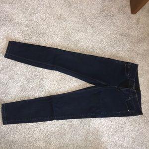 White house black market dark skinny jeans